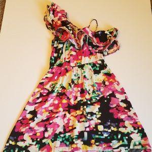 H&M Ruffled Asymmetrical One Shoulder Dress